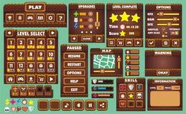 GUI 43 del juego Fotografía de archivo libre de regalías