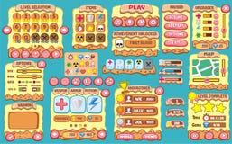 GUI 53 del juego Fotografía de archivo
