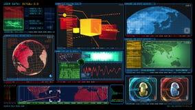 GUI dello schermo di dati del computer di interfaccia di tecnologia illustrazione di stock