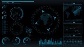 GUI dello schermo di tecnologia di animazione illustrazione di stock