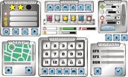 GUI 6 do jogo ilustração stock