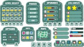 GUI 7 do jogo Foto de Stock