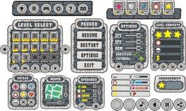 GUI 13 do jogo Imagem de Stock Royalty Free
