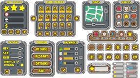 GUI 14 do jogo Fotos de Stock Royalty Free