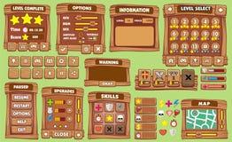 GUI 30 do jogo ilustração do vetor