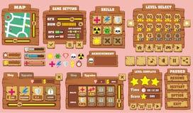 GUI 27 do jogo Foto de Stock
