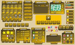 GUI 29 do jogo Fotos de Stock