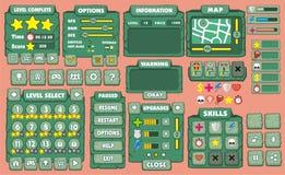 GUI 31 do jogo Fotos de Stock Royalty Free