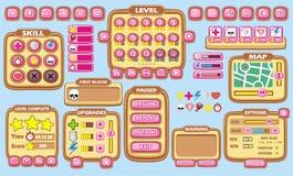 GUI 33 do jogo ilustração stock