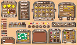 GUI 32 do jogo Fotografia de Stock