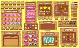 GUI 35 do jogo ilustração do vetor
