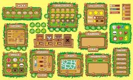 GUI 36 do jogo ilustração stock
