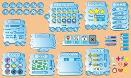 GUI 39 do jogo ilustração royalty free
