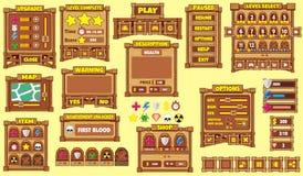 GUI 50 do jogo Imagens de Stock Royalty Free