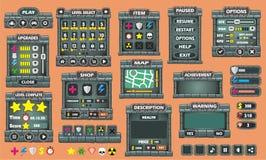 GUI 46 do jogo ilustração stock