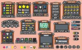 GUI 45 do jogo ilustração do vetor