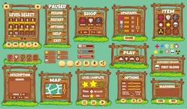 GUI 51 do jogo ilustração stock