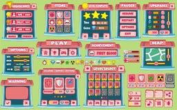 GUI 55 do jogo ilustração stock