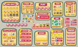 GUI 57 do jogo ilustração royalty free