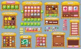 GUI 60 do jogo Fotos de Stock Royalty Free