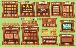 GUI 58 do jogo ilustração royalty free