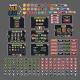 GUI #14 do jogo ilustração royalty free