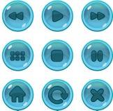 GUI dos ícones do jogo UI Imagem de Stock