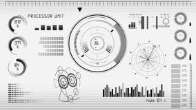 GUI för animeringteknologiskärm vektor illustrationer