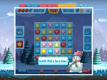 GUI för glad jul - sätt 3 i linje - dataspel Royaltyfria Foton