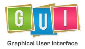 GUI Graphical User Interface Colorful-Blöcke Lizenzfreie Stockfotos