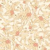 Gui Holly Berries Seamless de vintage de vecteur Photo stock
