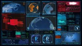 GUI 4K экрана данным по компьютера интерфейса технологии акции видеоматериалы
