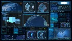 GUI 4K экрана данным по компьютера интерфейса технологии иллюстрация вектора