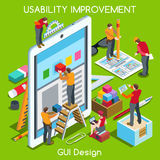 GUI-ontwerp 03 Isometrische Mensen Royalty-vrije Stock Fotografie