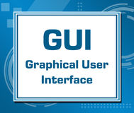 GUI Technical Blue Background Images stock