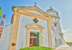 Guia Chapel and Lighthouse Macau Royalty Free Stock Photos