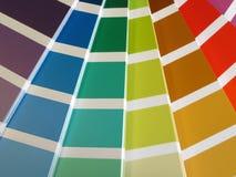 Guia da cor fotografia de stock