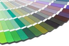 Guia da paleta de cores imagem de stock