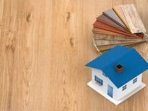 Guia de madeira da cor para a decoração da casa ilustração royalty free