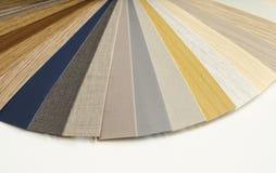 Guia de madeira decorativo da paleta Design de interiores Foto de Stock Royalty Free