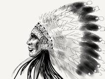 Águia do branco do nativo americano Fotos de Stock Royalty Free