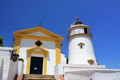 Guia Festungs-Leuchtturm in Macau Lizenzfreie Stockbilder