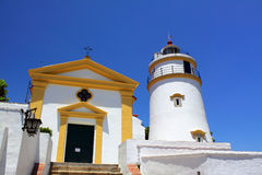 Guia Fortress Lighthouse in Macau royalty free stock images