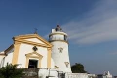 Guia Lighthouse. In Macau, China Stock Photo