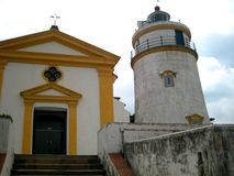 Guia Lighthouse. A must see travel destination in Macau Stock Images