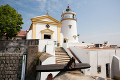Guia Lighthouse, forteresse et chapelle dans Macao Photos libres de droits