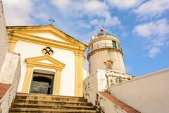 Guia Lighthouse in Macao, Macau, China. Travel landmark Royalty Free Stock Images