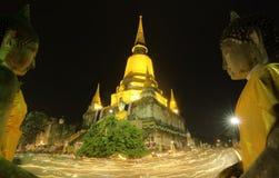 Guia para o si Ayutthaya de Phra Nakhon Fotos de Stock Royalty Free