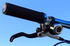Guiador da bicicleta Fotografia de Stock