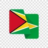 Guiana - bandeira nacional ilustração royalty free